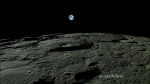 Earth-rise from the Moon, wide-angle HDTV pic from the Kaguya mission